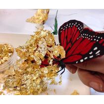 Hojas Oro Flakes Hojuela Arte Manualidad Instructivo Gratis