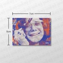 Imã De Geladeira 5cm X 7cm Janis Joplin