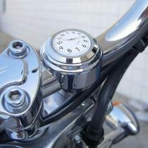 Relógio Guidão Moto Motocicleta Custom Harley Cromado Choppe