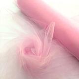 Tecido Tule Sulferino Rosa Bebê A Metro X 1.20m De Largura