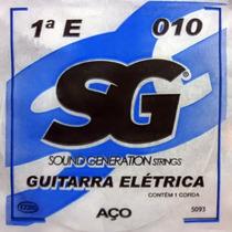 Corda 1ª Mi 010 Mizinha Para Guitarra Sg