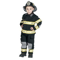 Disfraz Para Niño Traje Jr. Del Bombero Con El Casco, Tamañ