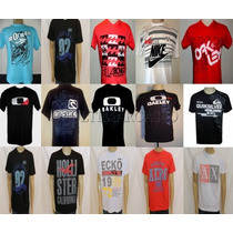 Pacote C/10 Camisetas Camisas Marcas Famosas Oferta Limitada