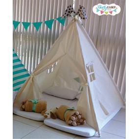3 Cabanas Infantis P/ Festa Do Pijama Em Tecido Cru