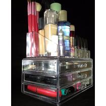 Porta Maquiagem Gaveteiro Organizador De Acrílico Para Makes