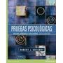 Libro: Pruebas Psicológicas. Historia, Principios Y... - Pdf
