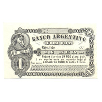 Banco Argentino Cordoba 1 Real 1870´s Ps 1472 Provincial Rrr
