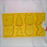 Molde Silicon Ponquesitos Navidad 001 7x4cm C/u Arbol Bota