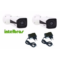 02 Câmera Intelbras Vip 1120b Ip Mini Bullet 720p +2 Fontes