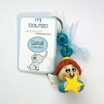 Recuerdos Baby Shower Pasta Francesa Llaveros Bebés Angelito