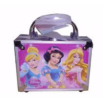 Kit Maleta Maquiagem Infantil Princesas Disney + Brinde