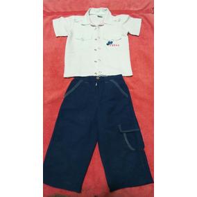 Bello Conjunto De Pantalón Y Camisa Para Niños Talla 2