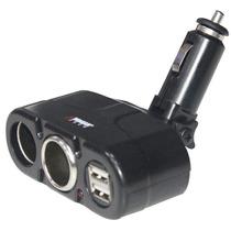 Cargador De Carro 2 Puertos V12, Usb, Celular, Mp3 Ipod, Gps