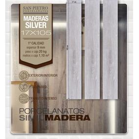 Porcelanato San Pietro Simil Madera Silver 16x105 Oferta!!