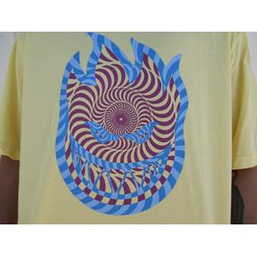 Camiseta Spitfire Espiral Amarelo Logo Original