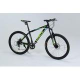 Bicicleta Mtb Alumínio 21 Marchas Grupo Shimano Preta