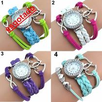 Relógio Feminino Pulseira Estilo Bracelete De Couro