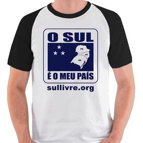 Camiseta O Sul É O Meu País Movimento Raglan Blusa Camisa