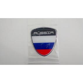 Bandeira Da Russia Adesivo Resinado Escudo C/ Paises