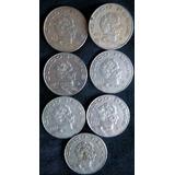 Monedas Antiguas De 5 Pesos V. Guerrero México 1971 - 1978