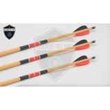Flechas De Madera De Competición Prana, Calibrada, Arquería
