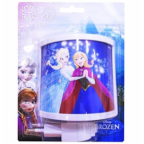Infantil Mini Abajur Luminária Tomada Frozen Menina Luz Led