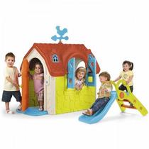 Feber Lovely House Con Tobogán Casita Para Niños