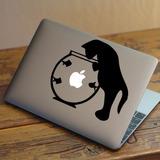 Vinilos Decorativos Skin Mac Notebook Tablet - Gato Pecera
