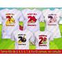 5 Camisetas Temática Festa Kids Angry Birds Kit Aniversário