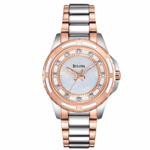 Reloj Bulova Diamond 98p134 Time Square