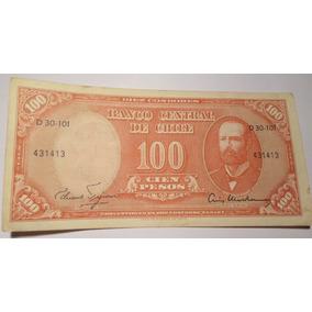 Chile - Billete De 100 Pesos - 10 Centésimos De Escudo - Exc