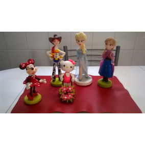 Adornos De Torta En Porcelana Fria /minnie/kitty/frosen