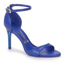 Sandália Salto Feminina Vizzano - Azul