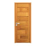 Kit Porta De Madeira Montada 713 - 2,10m X 80cm - Angelim