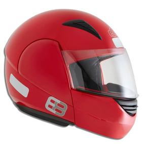 Capacete Moto Robocop Ebf Modelo E08 Solid 56 Vermelho