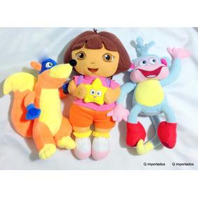 Bonecos De Pelucia Dora, Botas E Raposo Da Dora Aventureira