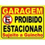 Placa Proibido Estacionar - 60x60 Em Ps 2 Mm