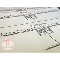 Fita Auxiliar Para Régua T - Design Sobrancelhas Simétrico