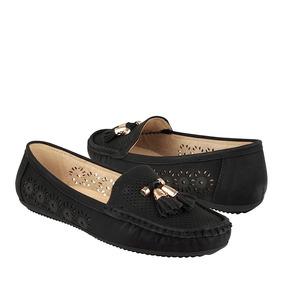 Comfort Fit Zapatos Dama Confort 10407 Suede Negro