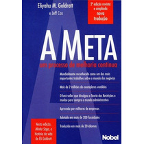 Livro A Meta Eliyahu M. Goldbratt