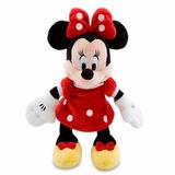 Minnie Mouse Em Tecido Original Vestido Vermelho 24 Cm