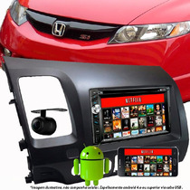 Kit Central Multimidia New Civic Dvd Tv Gps Bluetooth Mirror