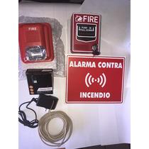 Alarma Contra Incendio Kit Estrobo Con Estacion Manual