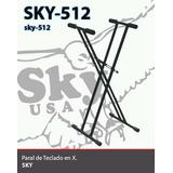 Paral Para Teclados Doble X Reforzados Sky-512 Nuevos