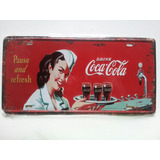 Placa Cocacola Estilo Retro