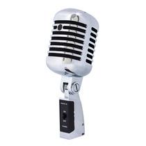 Proel Dm55v2 Microfono Vocal Diseño Retro Antiguo Metalico