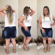 Shorts Bermuda Jeans Plus Size Hot Pants Lycra Promoção!!!!!