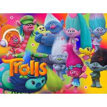 Kit Imprimible Trolls Candy Bar Invitaciones Y Mas