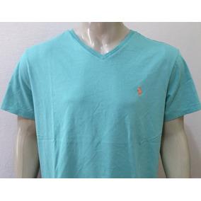 Camiseta Manga Curta Gola V Masculina Polo Ralph Lauren