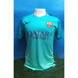 Camiseta Barcelona 2016 2017 Nike Suplente Verde Champions 3